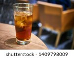 cold drinks with ice at the bar ... | Shutterstock . vector #1409798009
