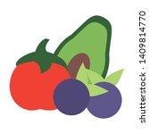 vegetable and fruit tomato...   Shutterstock .eps vector #1409814770