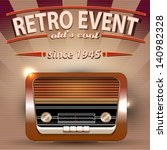 retro party poster with vintage ... | Shutterstock .eps vector #140982328