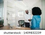 smiling african american... | Shutterstock . vector #1409832239