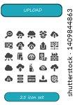 upload icon set. 25 filled... | Shutterstock .eps vector #1409844863