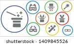 illusion icon set. 9 filled...   Shutterstock .eps vector #1409845526
