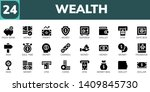 wealth icon set. 24 filled... | Shutterstock .eps vector #1409845730