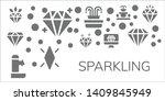 sparkling icon set. 11 filled... | Shutterstock .eps vector #1409845949