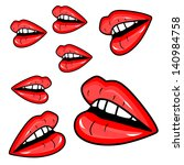 girl lips  illustration | Shutterstock .eps vector #140984758