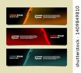 banner background modern... | Shutterstock .eps vector #1409849810