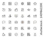 project management ine icon set....