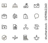 project management ine icon set.... | Shutterstock .eps vector #1409862260