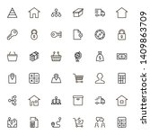 line icon set. collection of... | Shutterstock .eps vector #1409863709