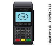 pos terminal or payment... | Shutterstock .eps vector #1409867633