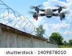 Police Drone Patrols The Area...