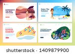 set of flat design web page... | Shutterstock .eps vector #1409879900