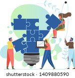 idea creation  vector flat... | Shutterstock .eps vector #1409880590