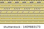 warning tape. set of vector... | Shutterstock .eps vector #1409883173