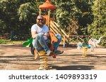 Playful Crazy Man  Dad  Riding...