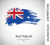 flag of australia with brush... | Shutterstock .eps vector #1409897240