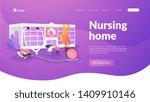 elderly people caregiving ... | Shutterstock .eps vector #1409910146