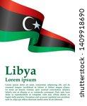 flag of libya  state of libya....   Shutterstock .eps vector #1409918690