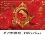 happy chinese new year 2020 rat ... | Shutterstock .eps vector #1409924123