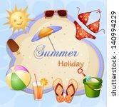 summer holiday illustration | Shutterstock .eps vector #140994229