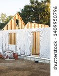 Small photo of Annexe, annex or house extension build with timber frame and wall insulation