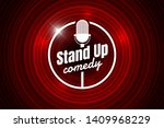 stand up comedy night live show ... | Shutterstock .eps vector #1409968229