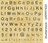 letters  numbers and symbols in ...   Shutterstock . vector #140997433
