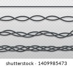 electric cable or cord twisted... | Shutterstock .eps vector #1409985473