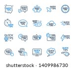 quick tips line icons. set of... | Shutterstock .eps vector #1409986730