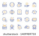 loyalty program line icons.... | Shutterstock .eps vector #1409989733