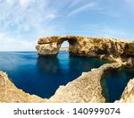 azure window  famous stone arch ... | Shutterstock . vector #140999074
