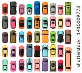 cars top view vector... | Shutterstock .eps vector #1410009773