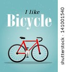 bicycle retro illustration | Shutterstock .eps vector #141001540