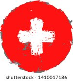 creative switzerland flag on... | Shutterstock .eps vector #1410017186