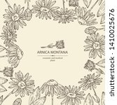 background with arnica montana  ... | Shutterstock .eps vector #1410025676
