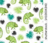 seamless tropical pattern with... | Shutterstock .eps vector #1410034340