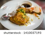 fried chicken in sticky sauce...   Shutterstock . vector #1410037193