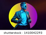 young handsome model posing in... | Shutterstock . vector #1410042293