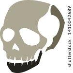 vector of a simple  skull   Shutterstock .eps vector #1410042689