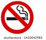 do not smoking non smoking... | Shutterstock . vector #1410042983