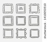 vector set of vintage photo... | Shutterstock .eps vector #1410053510
