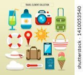 travel and tourism flat icons...   Shutterstock .eps vector #1410053540