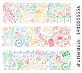vector pattern with cinema... | Shutterstock .eps vector #1410055556