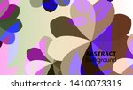 abstract flower background with ... | Shutterstock .eps vector #1410073319