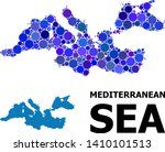 blue round spot mosaic and...   Shutterstock .eps vector #1410101513