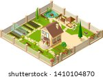 private country house and... | Shutterstock .eps vector #1410104870
