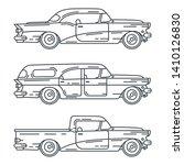 line vector icon set american...   Shutterstock .eps vector #1410126830