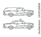 line vector icon set american...   Shutterstock .eps vector #1410126836