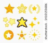 set of different yellow stars...