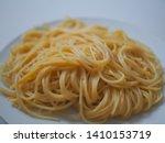 Bowl Of Boiled Spaghetti Pasta